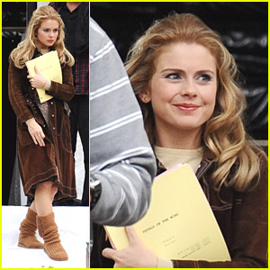 Rose McIver: 'Petals on the Wind' Filming in Pasadena