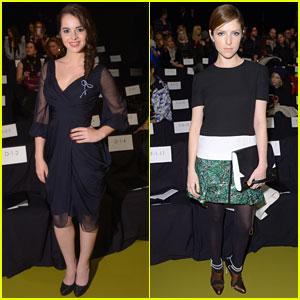 Vanessa Marano & Anna Kendrick: J. Mendel Fashion Show Ladies!