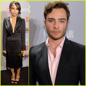 Zoe Kravitz & Ed Westwick: 'Vanity Fair' Young Hollywood Party 2014