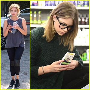Ashley Benson Shops For Biore Beauty After Gym Session