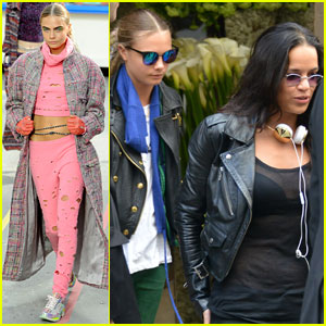 Cara Delevingne Walks in the Chanel Show After Lunching with Michelle Rodriguez
