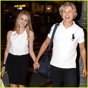 Charlie White Holds Hands with Girlfriend Tanith Belbin at 'DWTS' After-Party