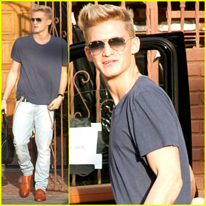 Cody Simpson Leaves 'DWTS' Studio After Practice with Partner Witney Carson