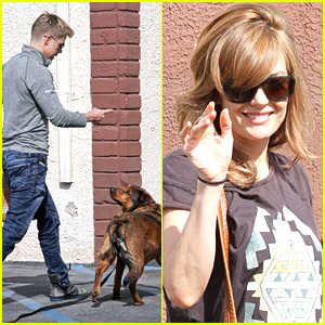 Derek Hough Brings Dog Romey for 'DWTS' Practice with Amy Purdy