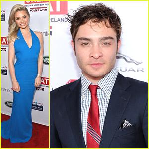 Emma Rigby & Ed Westwick: GREAT British Oscar Reception 2014