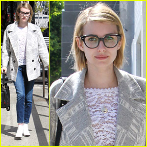 Emma Roberts Fights Fever with Cake & Cute Necklace