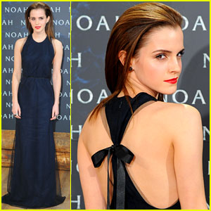 Emma Watson Shows Some Skin at 'Noah' Premiere in Germany