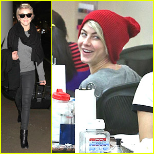 Julianne Hough: Nail Salon Stop After Weekend Getaway
