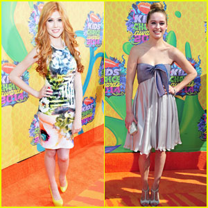 Katherine McNamara & Greer Grammer: Cute & Colorful at the Kids' Choice Awards 2014!