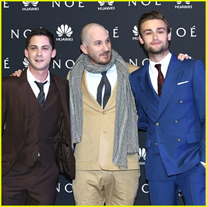 Logan Lerman & Douglas Booth Premiere 'Noah' in Mexico; Catch The New Trailer!