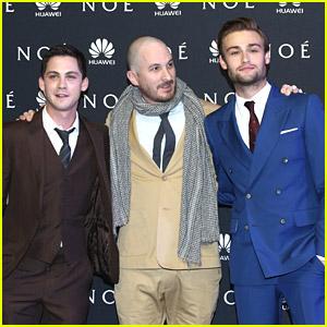 Logan Lerman & Douglas Booth Premiere 'Noah' in Mexico; Catch The New Trailer!