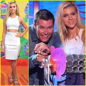 Nicola Peltz & Jack Reynor Get Silly at the Kids' Choice Awards 2014!