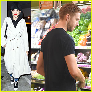 Rita Ora Quietly Lands at LAX Airport, Calvin Harris Shops For Veggies