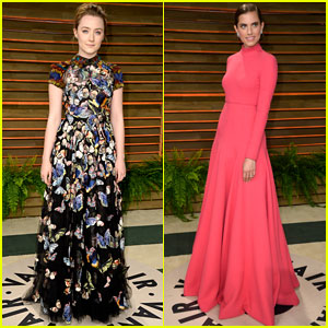 Saoirse Ronan & Allison Williams: Vanity Fair Oscars 2014 Party Goers
