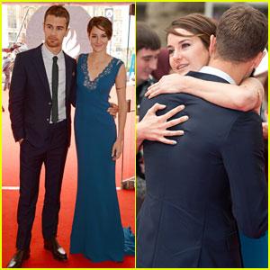 On Tuesday, Shailene Woodley and Theo James premiered ...  Shailene Woodley And Theo James Divergent Premiere