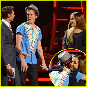 Ariana Grande Surprises American Idol's Sam Woolf - Watch Now!