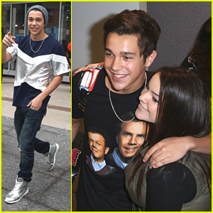 Austin Mahone Super Friendly With Fans At 'The Morning Show' in Toronto