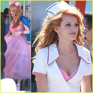 Bella Thorne Shoots Music Video in Los Angeles - See The Pics Here!