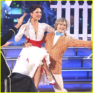 Charlie White & Sharna Burgess Were 'Supercalifragilisticexpialidocious' on DWTS - See Their Jazz Pics Here!