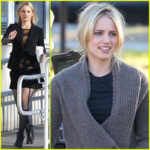 Dianna Agron Switches Up Oufits for First Day of 'Tumbledown' Filming with Jason Sudeikis