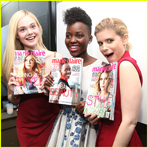 Elle Fanning Celebrates Her May 2014 Marie Claire Cover with Kate Mara & Lupita Nyong'o