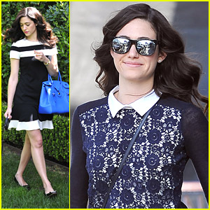 Emmy Rossum Picks Up New Books!