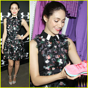 Emmy Rossum: Springtime Fashion for Under Armour SoHo Event