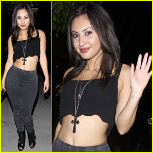 Francia Raisa Shows Some Skin During 1OAK Night Out