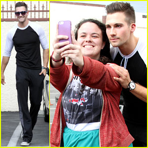 James Maslow is Fan-Friendly Outside 'DWTS' Studio