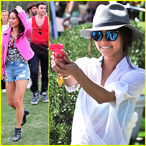 Jamie Chung: Squirt Gun Fight at Coachella 2014!
