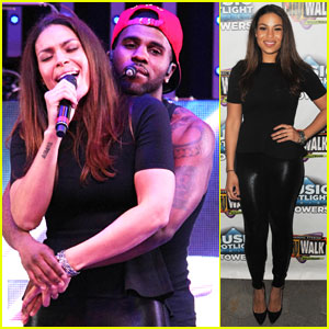 Jason Derulo & Jordin Sparks Get Cozy on Stage!