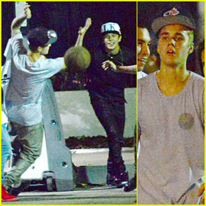 Justin Bieber & Austin Mahone: Studio Basketball Buddies