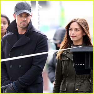 Kristin Kreuk & Jay Ryan Film 'Beauty and the Beast' Action Scenes in Toronto