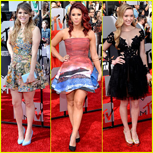 Molly Tarlov, Greer Grammer & Jillian Rose Reed - MTV Movie Awards 2014!