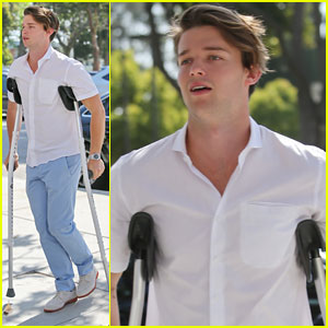 Oh No! Patrick Schwarzenegger Spends Easter Sunday on Crutches!