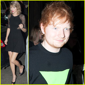 Taylor Swift & Ed Sheeran Head Out After 'Saturday Night Live'!