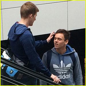 Tom Daley Gets Cute Hair Fix from Boyfriend Dustin Lance Black