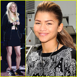 Zendaya & Ellie Goulding: Pre-MTV Movie Awards Rehearsals!