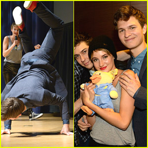 Ansel Elgort Breaks Dances at Nashville 'TFIOS' Event - Watch!