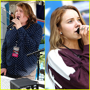 American Idol Winner Caleb Johnson: Memorial Day Concert Rehearsals with Danielle Bradbery