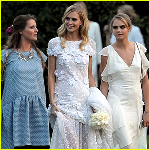 Cara Delevingne Debuts New Tattoo at Sister Poppy's Wedding!