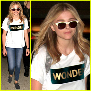 Chloe Moretz is a 'Wonder' Gal En Route to Cannes!