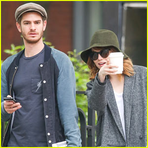 Emma Stone & Andrew Garfield Stroll Around New York City Together