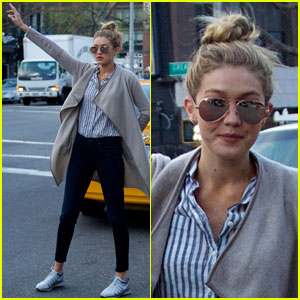 Gigi Hadid Successfully Hails a Cab in NYC!