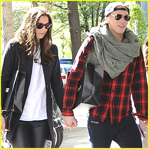 Jamie Campbell Bower Holds Hands with Matilda Lowther Before Flight to LA