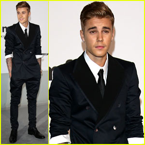 Justin Bieber Cleans Up Nicely for amfAR Gala 2014!