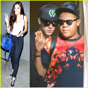 Justin Bieber & Madison Beer Hit the Studio Again!