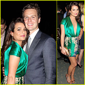 Lea Michele & BFF Jonathan Groff Meet Up at 'Normal Heart' Premiere After Party!