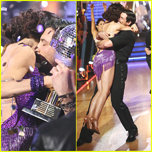 Meryl Davis & Maksim Chmerkovskiy WIN 'Dancing With The Stars' Season 18 - See All The Pics!