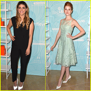 Molly Tarlov & Katherine McNamara 'Step Up' at Inspiration Awards 2014